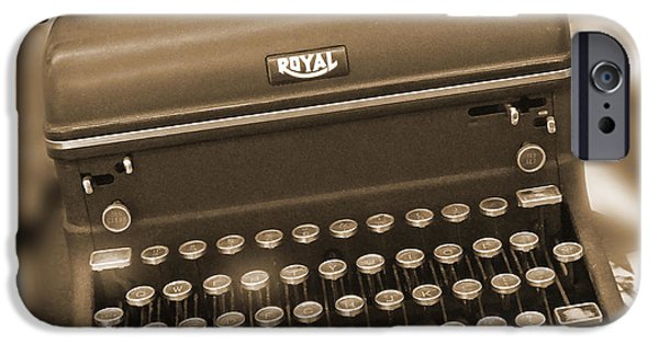 """""""square """" Digital iPhone Cases - Royal Typewriter iPhone Case by Mike McGlothlen"""