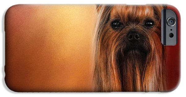 Yorkshire Terrier Art iPhone Cases - Royal Yorkshire iPhone Case by Jai Johnson