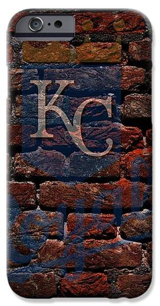 Royals Baseball Graffiti on Brick  iPhone Case by Movie Poster Prints