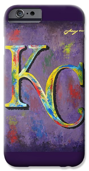 Baseball Stadiums Mixed Media iPhone Cases - Kansas City Royals Baseball iPhone Case by Dan Haraga