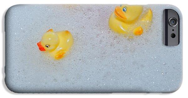 Ducks iPhone Cases - Rubber Ducks iPhone Case by Joana Kruse