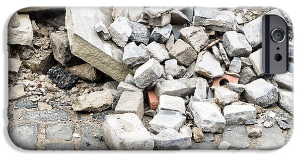 Dump iPhone Cases - Rubble iPhone Case by Tom Gowanlock