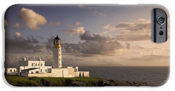 Highlands Digital iPhone Cases - Rubha Reidh - lighthouse iPhone Case by Pat Speirs