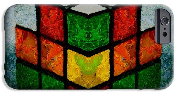 Rubiks Cube iPhone Cases - Rubiks Cube iPhone Case by Dan Sproul