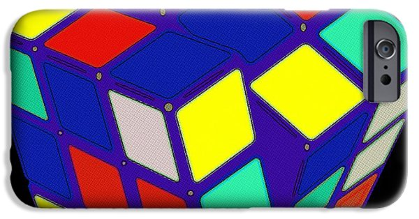 Rubiks Cube iPhone Cases - Rubiks Cube Pop Art iPhone Case by Florian Rodarte