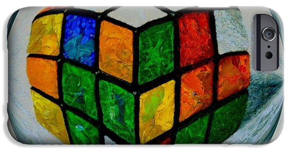 Rubiks Cube iPhone Cases - Rubiks iPhone Case by Dan Sproul