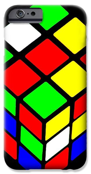 Rubiks Cube iPhone Cases - Rubiks Phone iPhone Case by Benjamin Yeager