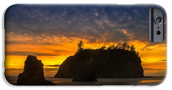 Ocean Sunset iPhone Cases - Ruby Beach Olympic National Park iPhone Case by Steve Gadomski