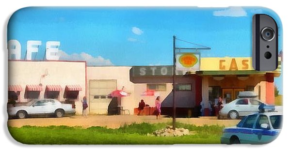 Agriculture iPhone Cases - Ruby Cafe Corner Gas iPhone Case by Mick Flynn