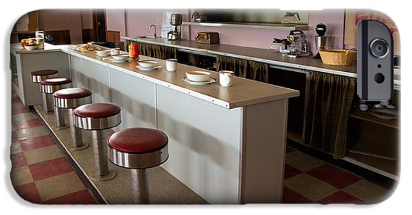 Canada Photograph iPhone Cases - Ruby Cafe Interior from the Canadian TV Sitcom Corner Gas iPhone Case by Randall Nyhof