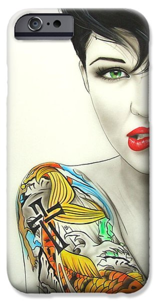 Lips iPhone Cases - Ruby II iPhone Case by Christian Chapman Art