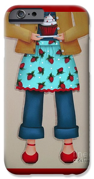 Apron iPhone Cases - Rubys Red Shoes iPhone Case by Catherine Holman