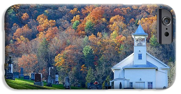 Recently Sold -  - Headstones iPhone Cases - Ruddle Presbyterian Church iPhone Case by Teena Bowers