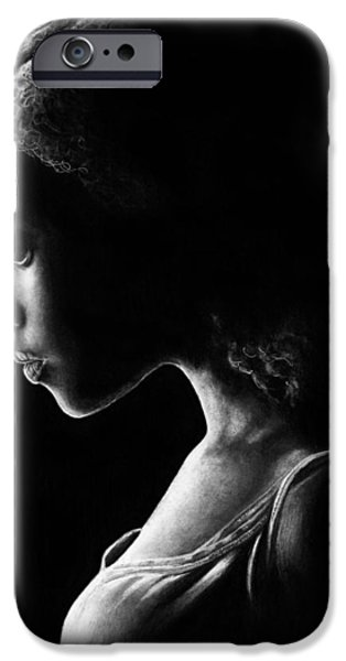Graphite Drawing Pastels iPhone Cases - Rue iPhone Case by Elisa Matarrese