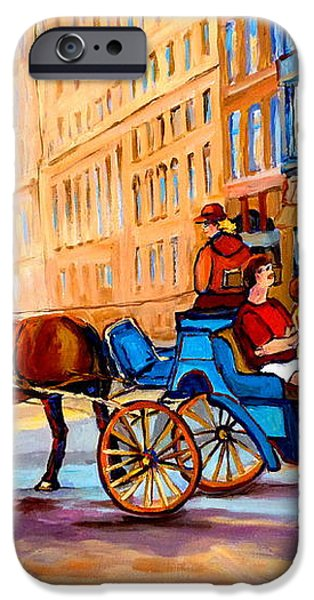 RUE NOTRE DAME CALECHE RIDE iPhone Case by CAROLE SPANDAU