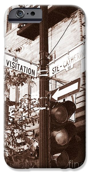 Rue Visitation iPhone Case by John Rizzuto