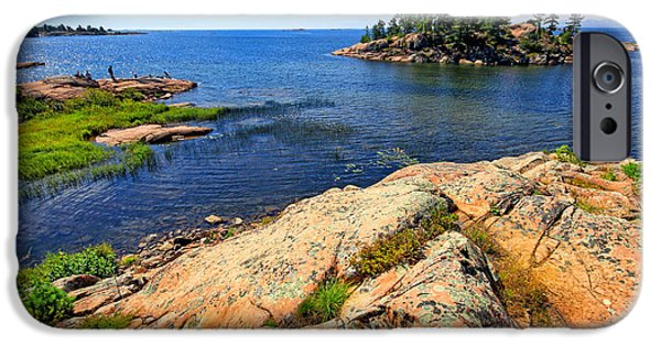 Killarney Provincial Park iPhone Cases - Rugged Beauty iPhone Case by Charline Xia
