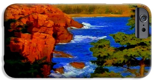 Painter Photo Photographs iPhone Cases - Rugged Coastline iPhone Case by Mario Carini