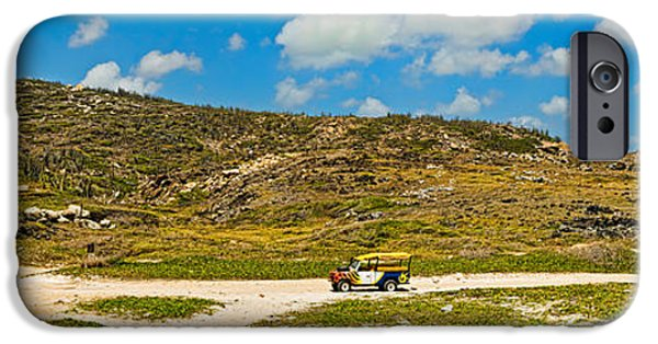 Indy Car iPhone Cases - Rugged Eastern Side Of An Island, Aruba iPhone Case by Panoramic Images
