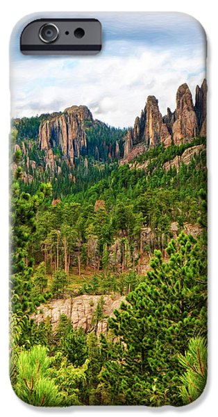 Cathedral Rock iPhone Cases - Rugged Granite Spires iPhone Case by John Bailey