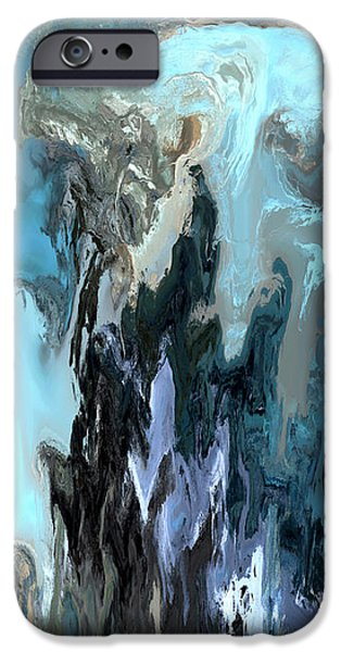Abstract Expressionism iPhone Cases - Ruin iPhone Case by Kevin Trow
