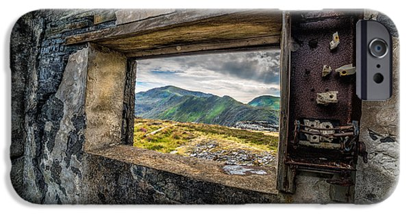 Abandoned iPhone Cases - Ruin with a View  iPhone Case by Adrian Evans