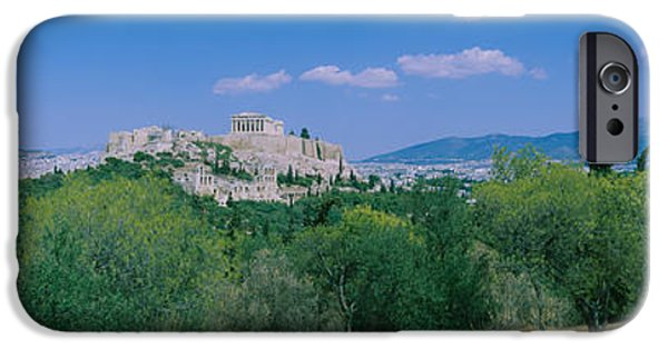 Acropolis iPhone Cases - Ruined Buildings On A Hilltop iPhone Case by Panoramic Images