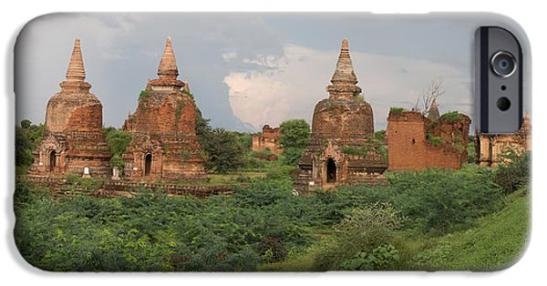 Buddhism iPhone Cases - Ruined Stupas Near Village Of Min Nan iPhone Case by Panoramic Images
