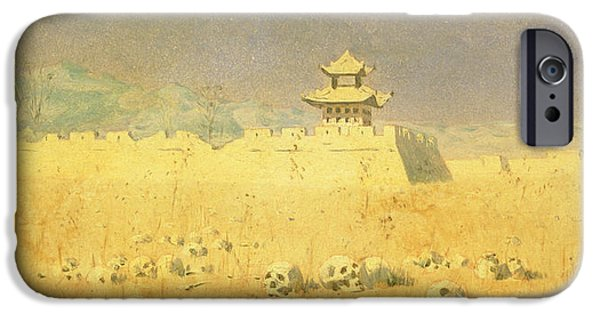 Ruin iPhone Cases - Ruins In Chuguchak, 1869 Oil On Canvas iPhone Case by Piotr Petrovitch Weretshchagin
