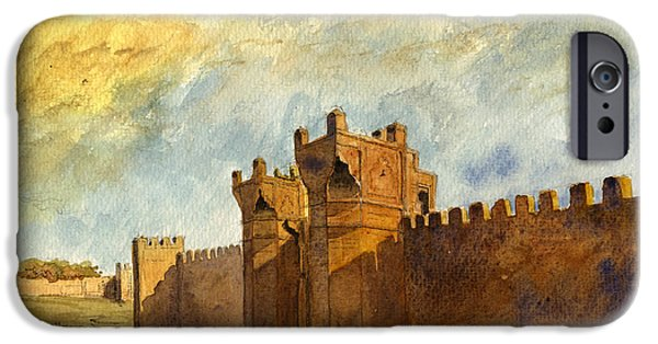 Ancient Paintings iPhone Cases - Ruins Morocco iPhone Case by Juan  Bosco