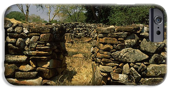 Rift iPhone Cases - Ruins Of A Stone Wall, Thimlich Ohinga iPhone Case by Panoramic Images