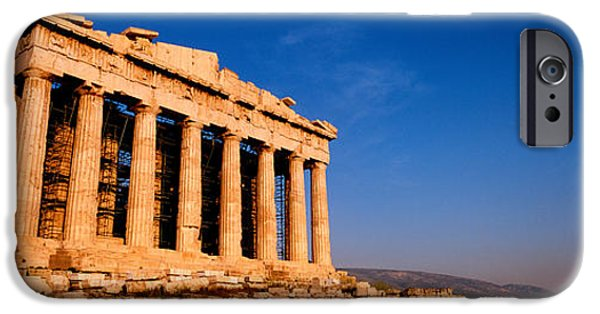 Acropolis iPhone Cases - Ruins Of A Temple, Parthenon, Athens iPhone Case by Panoramic Images