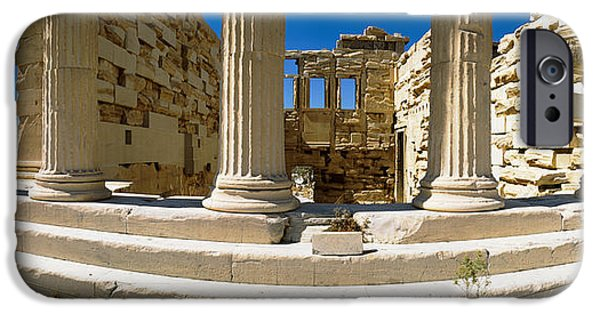 Acropolis iPhone Cases - Ruins Of A Temple, Parthenon, The iPhone Case by Panoramic Images