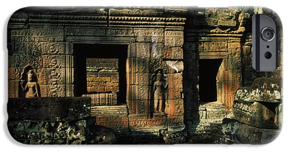 Buddhism iPhone Cases - Ruins Of A Temple, Preah Khan, Angkor iPhone Case by Panoramic Images