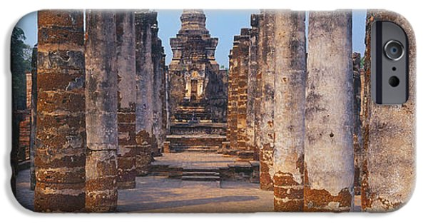 Buddhism iPhone Cases - Ruins Of A Temple, Sukhothai Historical iPhone Case by Panoramic Images