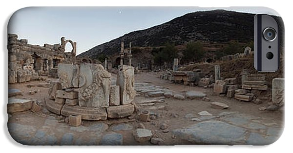 Ephesus iPhone Cases - Ruins Of A Temple, Temple Of Domitian iPhone Case by Panoramic Images