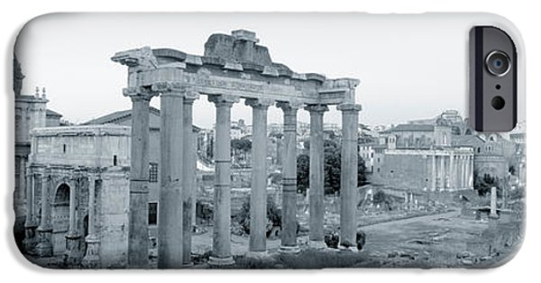 Ruin iPhone Cases - Ruins Of An Old Building, Rome, Italy iPhone Case by Panoramic Images