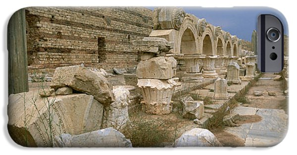 Leptis Magna iPhone Cases - Ruins Of Ancient Roman City, Leptis iPhone Case by Panoramic Images