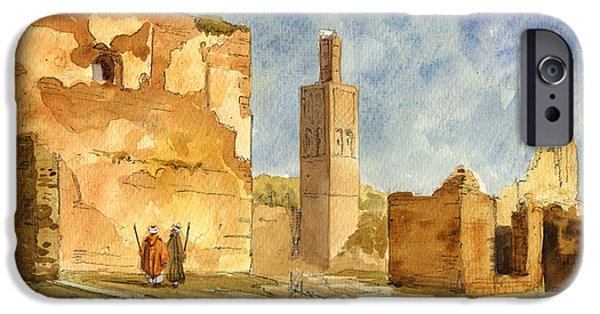 Ruin iPhone Cases - Ruins of Chellah  iPhone Case by Juan  Bosco