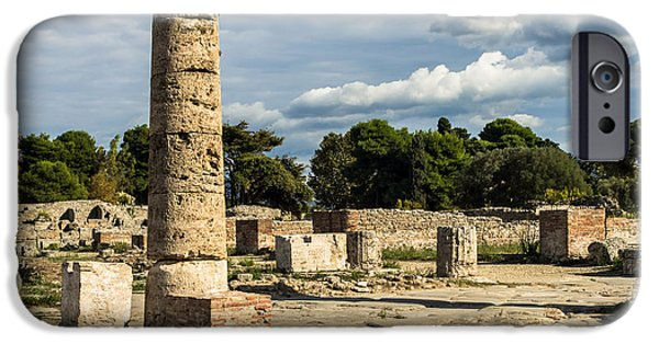 Charly iPhone Cases - Ruins of Paestum iPhone Case by Prints of Italy