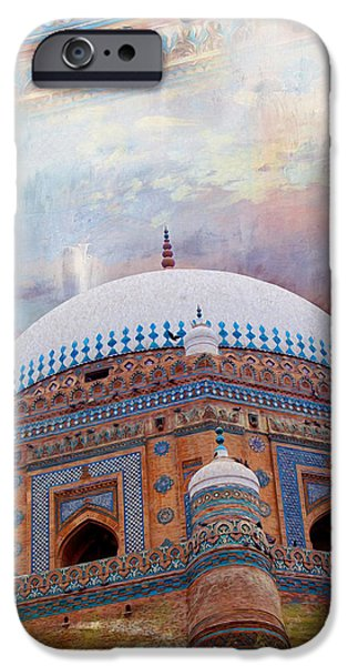 Pakistan iPhone Cases - Rukh e Alam iPhone Case by Catf