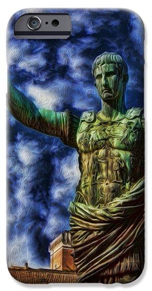 Julius Caesar iPhone Cases - Ruler of the Empire iPhone Case by Lee Dos Santos