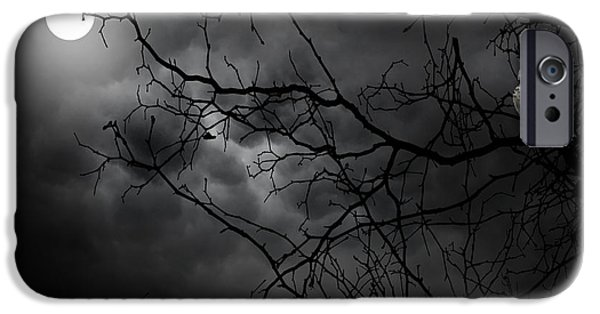 Barn Owl iPhone Cases - Ruler Of The Night iPhone Case by Lourry Legarde