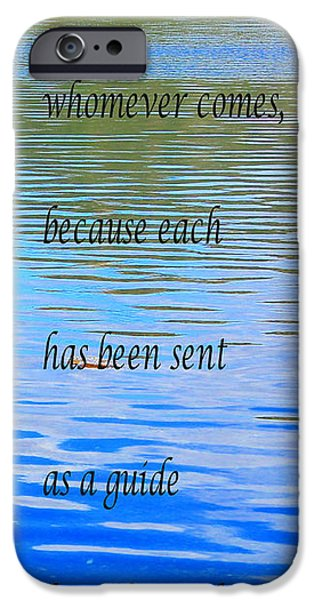 Rumi Quote 2 - Grateful - Guide iPhone Case by Barbara Griffin