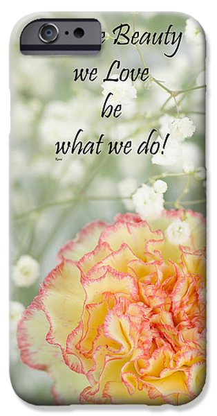 Positive Attitude iPhone Cases - Rumi quote-4 iPhone Case by Rudy Umans