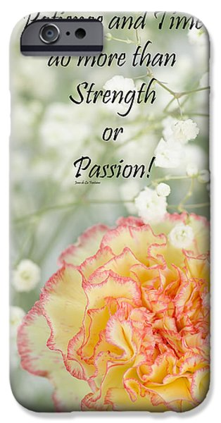 Positive Attitude iPhone Cases - Rumi Quote-3 iPhone Case by Rudy Umans