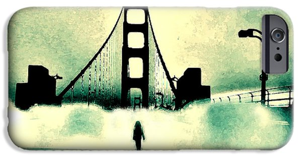 San Francisco iPhone Cases - Runnin Away Gotta Get Outta This Town iPhone Case by Lisa McKinney
