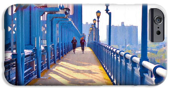 Jogging iPhone Cases - Running Across the Ben iPhone Case by Bill Cannon