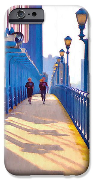 Running Across the Ben iPhone Case by Bill Cannon