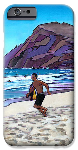 Running at Makapuu iPhone Case by Douglas Simonson